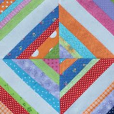 You won't believe this Super Magical String Quilt Block. This free quilt block tutorial will show you how to make the coolest ever string quilt project. Read more at http://www.favequilts.com/Block-Patterns/Super-Magical-String-Quilt-Block#ArpTSjOoJiwxMfMF.99