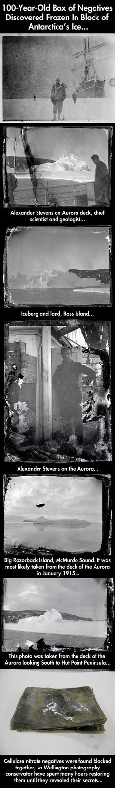 Photos discovered frozen in block of ice…Amazing!!