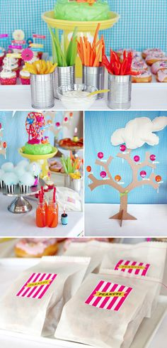 Lalaloopsy Party Food Ideas by Supermom Moments. #kidsparties #partyfood #Lalaloopsy #birthdayparty #cakedecor #partyfavors