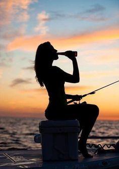 #sea #beer #fishing #girl #summer #woman
