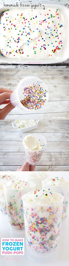 Frozen Yogurt Push Pops