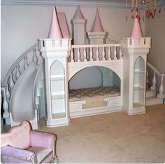 princess castle bed princess castle, castle beds, castl bed, disney princesses, dream room, princess bedroom ideas, dream bedrooms, babi stuff, amazing kids beds