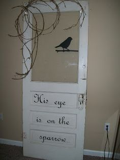 His eye is on the sparrow....love this idea!