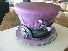 purple mad hatter cake