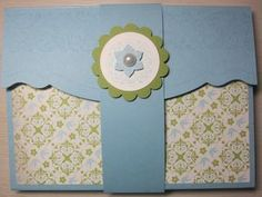 Quick & Easy Card Holder Box ~ Not big on these colors but LOVE the idea!