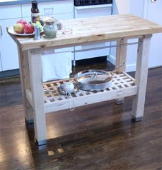 photos dresser butcher block top | ... bally crosley furniture butcher blocks counters kitchen islands wood