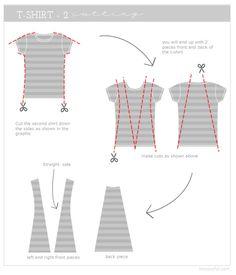 Upcycle: T-shirts to Summer vest tutorial | How Joyful