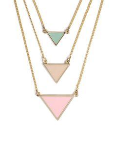 triangl necklac