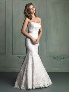 Simply sophisticated! Allure Wedding Dresses - Style 9117 #wedding #dresses