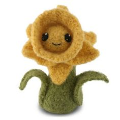 Felted Knit Daffodil ~ Free Pattern