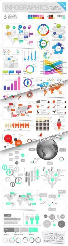 Infographic Design Elements: 3 Color Schemes
