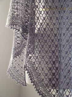 crochet lace shawl - found the pattern on Ravelry