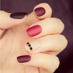 diseños de uñas opacas