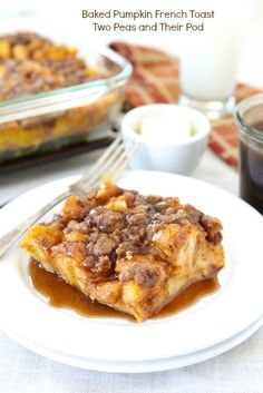 Baked Pumpkin French Toast from @TwoPeasandPod