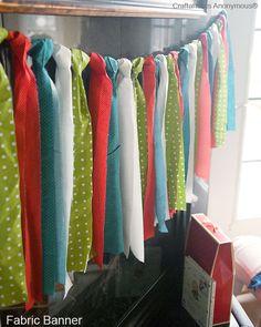 Simple & colorful ribbon garland