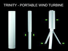 Trinity - The Portable Wind Turbine Power Station by Skajaquoda