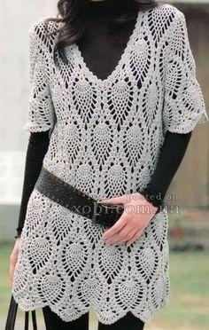 CARAMELO ARDIENTE es... LA PRINCESA DEL CROCHET: vestido túnica para usar con mallones