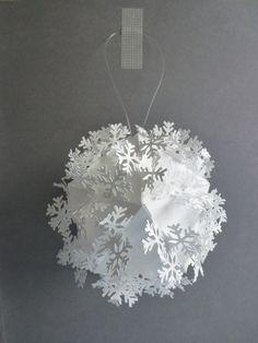 #paper #ornament #white #snowflake #christmas