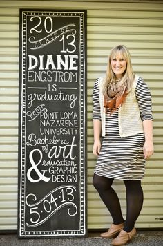 chalk typography graduation announcement