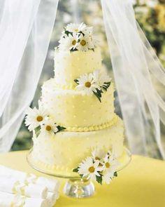 daisy wedding cakes