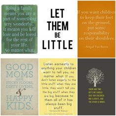 quotes on childhood, parenthood and families