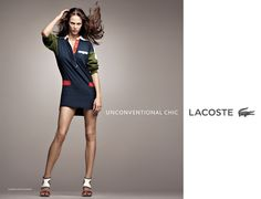 Elegant, authentic & effortlessly chic.  Introducing the Unconventional Chic Lacoste woman.