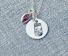 Jar of Hearts Necklace Hand Stamped by 3LittlePixiesShoppe on Etsy, $30.00