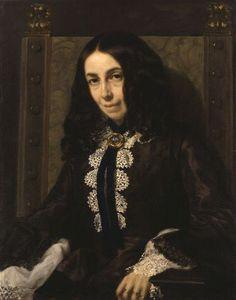Elizabeth Barrett Browning (1858) by Michele Gordigiani (1830-1909).