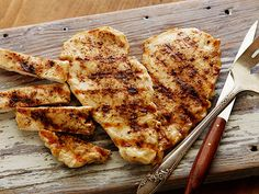 Cumin Grilled Chicken Breasts Recipe : Ellie Krieger : Food Network - cook it on the George Foreman Grill