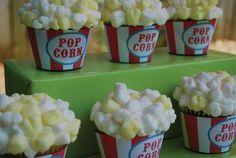 themed birthday parties, carniv parti, party cupcakes, circus birthday, snack, parti idea, kid parties, popcorn cupcak