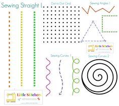 Teach child to sew - Little Stitchers printables