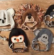 A crochet zoo of animal hats - via http://@Craftsy