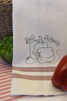 Freebie - Fruits & Veggies Tea Towel - Bell Peppers