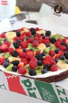 Pizza-Brownie de Frutas