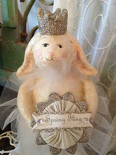 Bebe+HARE+BY+HEATHER+MYERS+COLLECTABLE+SPRING+FLING+RABBIT+SPARKLING+CROWN+BUNNY