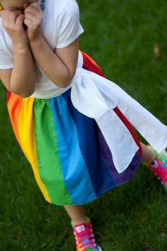 Every little girl needs a rainbow skirt!