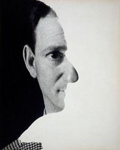 """Self-portrait,"""" New York, 1945 - Erwin Blumenfeld"""
