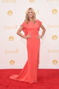 Heidi Klum in Zac Posen at the Emmys red carpet.