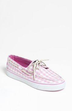 Pink Gingham Sperrys.