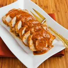 Slow Cooker Recipe for Pork Sirloin Roast with Spicy Peanut Sauce pork sirloin, pork roast, slow cooker recipes, sauc, crockpot recipes, south beach diet, peanut butter, sirloin roast, slow cooker pork