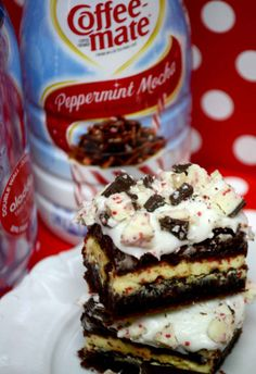 Peppermint Bark Brownie Recipe at Pinkcakeplate.com