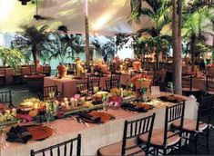 Luau themed wedding or party