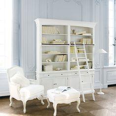 lovely white bookshelf