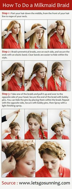 How To Do a Milkmaid Braid | PinTutorials