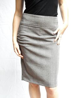 Herringbone every day pencil skirt size medium by RunSystem63,