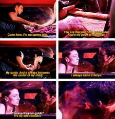 """""""Would you like to name some stars?"""" John and Aeryn #Farscape"""