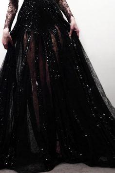 black #sparkle gown
