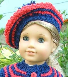 American Girl Doll Beret pattern by Elaine Phillips