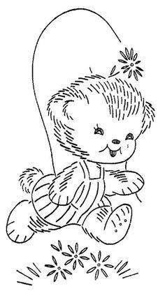 Teddy bear in overall