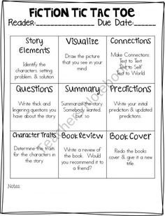 Miss Richardson-Independent reading activities kind of like our novel contract